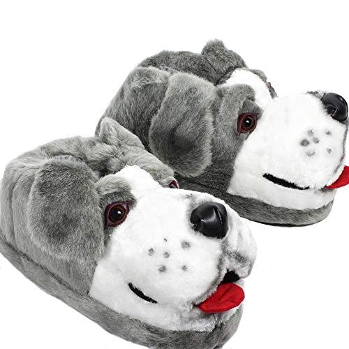 Sleeper'z - pantofole peluche a forma di animali cane da pastore - originale e divertente per donna e uomo - 42/44 (xl)