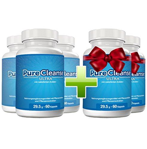 PureCleanse - natürliche Fettverbrennung und Reinigung. 5 Flaschen zum Preis von 3 (Natürliche Verdauungs-reinigung)