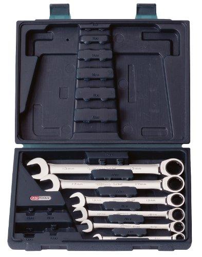 KS TOOLS 503.4259 Coffret clé mixte à cliquet CHROMEplus 6 pcs modulable 8-10-12-13-17-19 mm