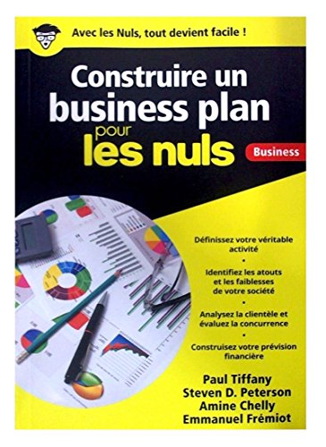 Construire un business plan pour les nuls business por Paul Tiffany