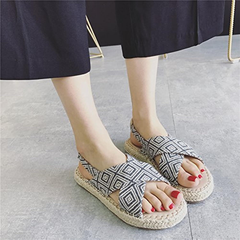 GTVERNH-dichotomanthes sotto le le le scarpe roma vento la cintura la spesse sandali scarpe dichotomanthes basso. Marronee 36 | attività di esportazione in linea  dfce67