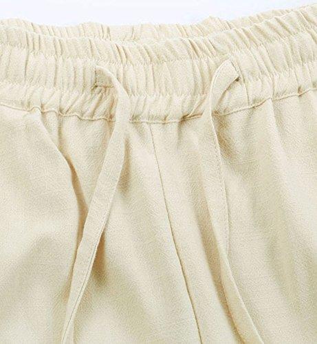 SK Studio -  Pantaloni  - relaxed - Basic - Uomo Beige