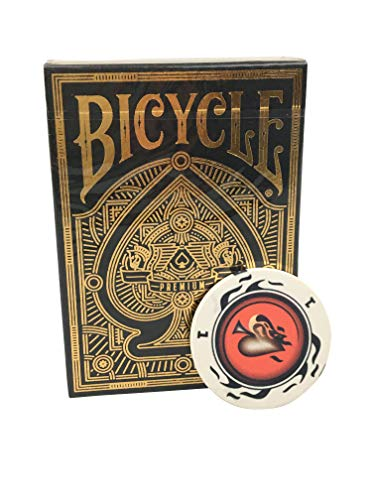Bicycle Premium Playing Cards - Limited Edition - Nur 5000 Exemplare, Inklusive Profi Keramik Poker-Chip Gratis, Pokerkarten, Kartenspiel, Spielkarten