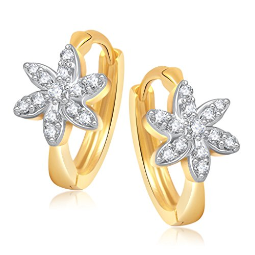 Vk Jewels Estonia Flower Gold Brass Alloy Cz American Diamond Earring for Women Vkbali1044G