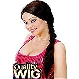 WIDMANN t0740–Femme Perruque cheveux longs Lara, tresse, Taille unique Adultes en boîte, marron