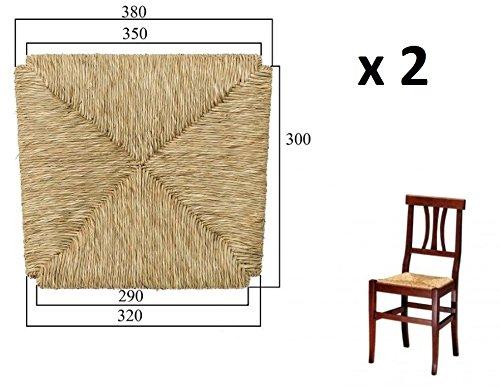 Ricambio per sedia telaio fondello fondino fondo seduta paglia mod. arte povera x 2