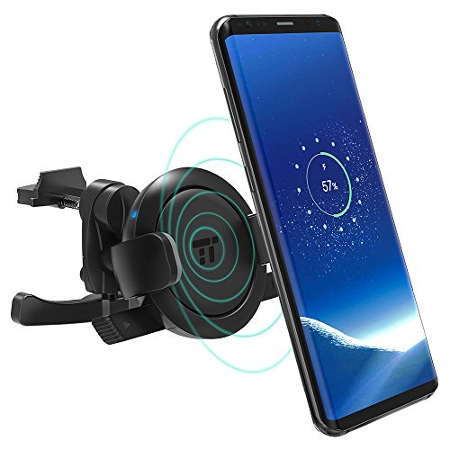 Handyhalterung Auto TaoTronics Qi Wireless Ladestation und Handyhalter fürs Auto Universale Autohalterung Phone Halter für iPhone, Samsung,und andere Smartphones von 5.8 bis 9 cm