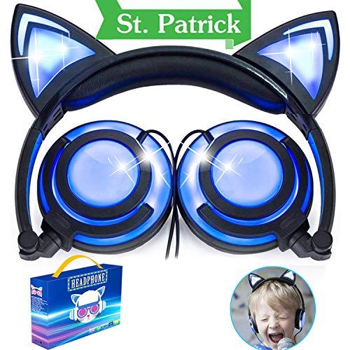 Auriculares Sobre la Oreja con Oreja de gato