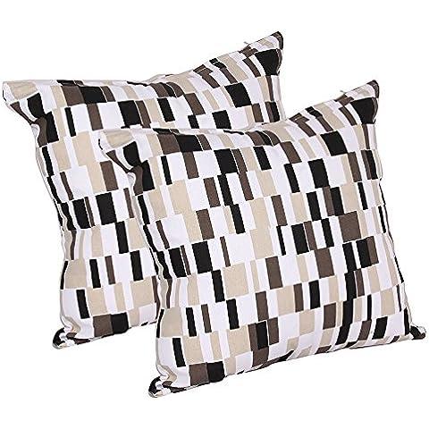 regali di giorno del padre Set di 2 in bianco e nero tiro di copertura del cuscino di caso in cotone con geometrico design casa Divano Decor