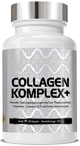Collagen Komplex+ 120 Cellulose-Kapseln - Hautfeuchtigkeit - gegen Linien und Falten - ANTI-AGING