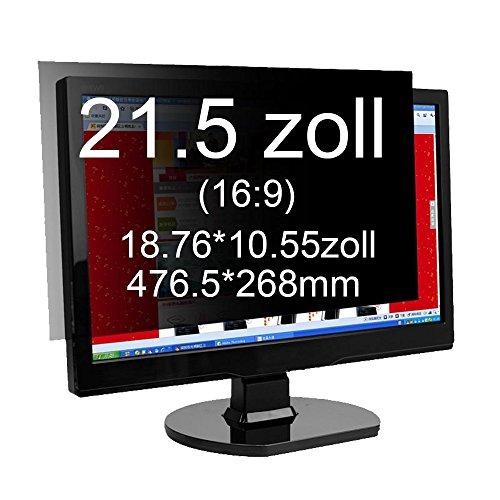 Xianan Widescreen Blickschutzfilter Blickschutzfolie Privacy Screen Folie Blickschutz Sichtschutz für 16:9 Laptops Notebooks Sichtschutzfolie (21.5