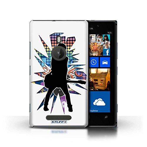 iCHOOSE Print Motif Coque de protection Case / Plastique manchon de telephone Coque pour Apple iPhone 5C / Collection Rock Star Pose / Windmill Blanc émotion Blanc