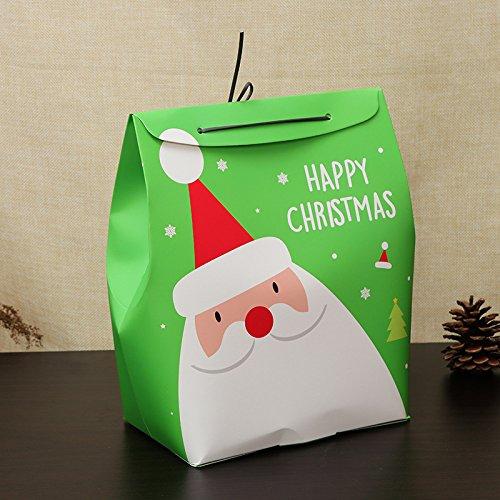 Bluelover Weihnachtstag Stocking Geschenkbox Cute Santa Decoration Candy Box Stocking Taschen - Rot