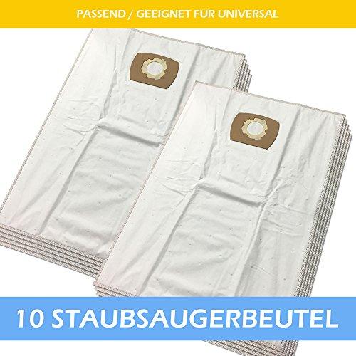 10 Mikrovlies Staubsaugerbeutel Für KÄRCHER: 6.904-263, WD 4000 bis 4999, NT 27/1..., K 2801 Plus