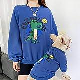 Miminuo Xmas Sweater,Nuevo Traje de Padre e Hijo para Mascotas de Primavera y otoño Que Ropa de Panda Que Imprime Ropa de Bulldog para Perros suéter de Manga Larga-Azul_XXXL