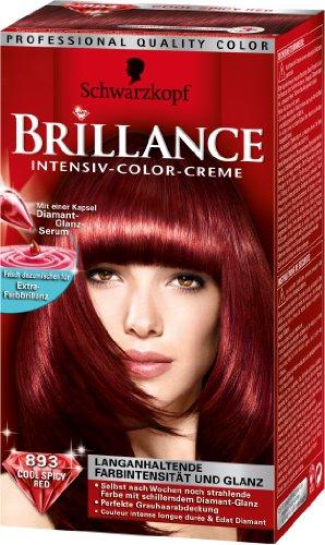 schwarzkopf brillance hair color 893 cool spicy red - Coloration Rouge Schwarzkopf