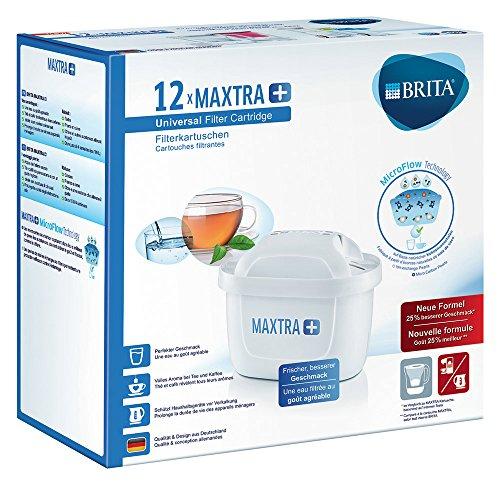 BRITA, Cartouche Filtrante pour Carafe, MAXTRA+ Haute Performance (Nouvelle Formule) - Pack 12