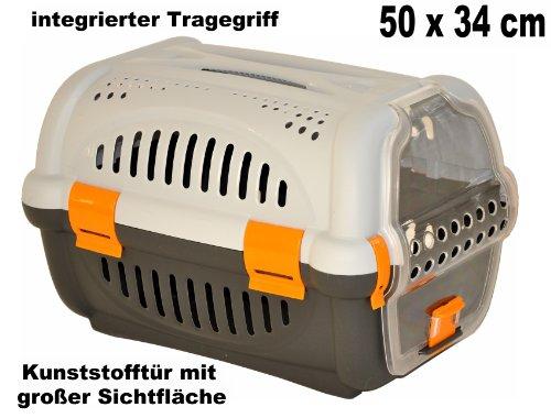nanook Haustier Transportbox / Tragekorb Tessa - 50 x 34 cm - orange