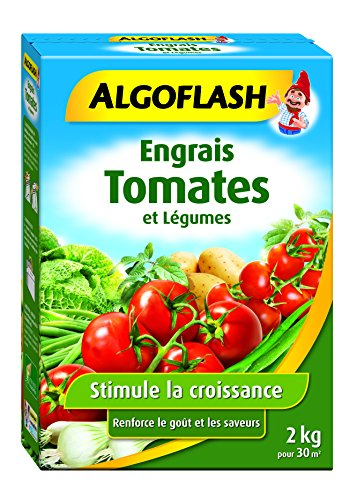 ALGOFLASH Engrais Tomates et Légumes, Jusqu'à 20m², 2 kg, POTA2