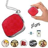 Hangang Mini micro GPS Tracker pour enfants Personnel appareil de suivi enfants GPS Locator Prazata A9GPS lbs positionnement Wifi 5jours en veille SOS Alarme Voice Surveillance, RED