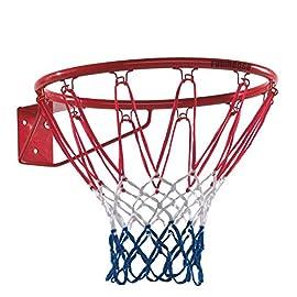 FATMOOSE Basketballkorb HangRing Basketballring Zubehör Outdoor-Spiel, Ø450mm, Metall mit Netz