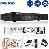 OWSOO 8CH DVR Full 960H/D1 Grabador de Video H.264 P2P Network CCTV Control Móvil Android/iOS Detección de Movimiento Alarma Email para Cámara Vigilancia