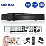 OWSOO 8CH Netzwerk DVR Digitaler Videorekorder ( Voll 960H/D1 h. 264 P2P) CCTV Sicherheit Telefon Control Motion Detection E-Mail Alarm für Überwachungskamera