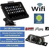 Elebest 17,8cm 7 Zoll,Navigationsgerät,Android, Funk Rückfahrkamera,WiFi,Tablet PC,Wohnmobil,LKW,PKW,Radarwarner,TMC,Lebenslang kostenlose Karten-Update, 32 GB Speicher
