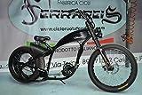 Fat Bike Bici Bicicletta Harley Davidson Replica Chopper Cruiser Personalizzabile - Trasparente, Kit 750 Watt 17ha