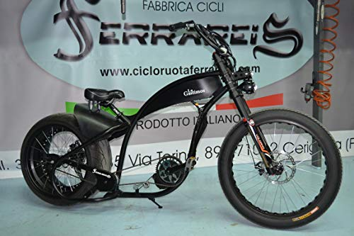 Fat Bike - Bicicleta Harley Davidson, réplica de Chopper Cruiser Personalizable, Transparente, Kit de 1000 W
