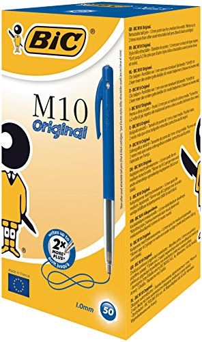 bic-m10-clic-medium-stylo-bille-retractable-bleu