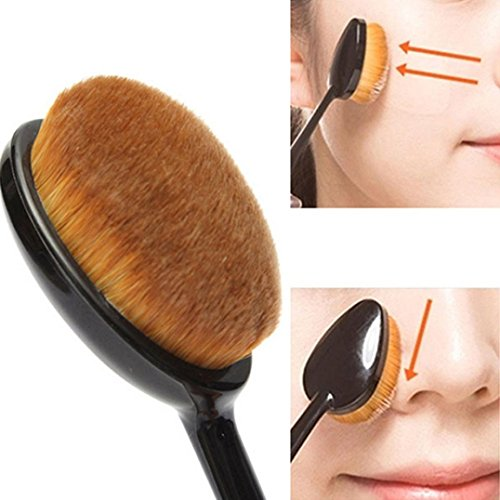 Ularma 4Pcs/Set Toothbrush Shape Eyebrow Makeup Foundation Brush Powder Brush Kits