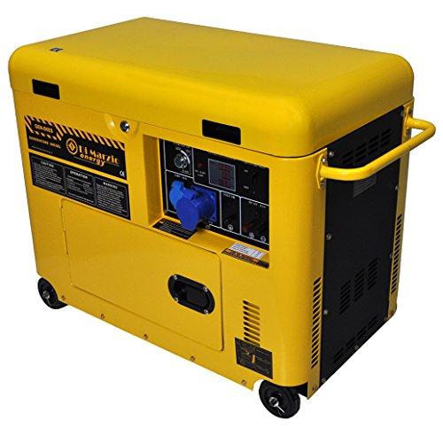 Générateur de courant Diesel 6 kw silencieux monophase - Groupe électrogène...