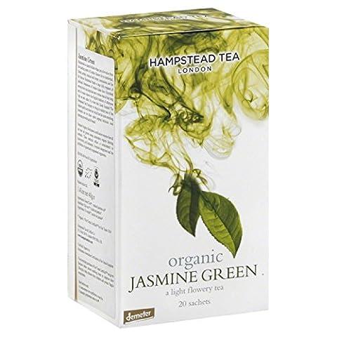 Hampstead Tea London Dreamy Jasmine Green Organic Green Tea - 4 x 20 Sachets