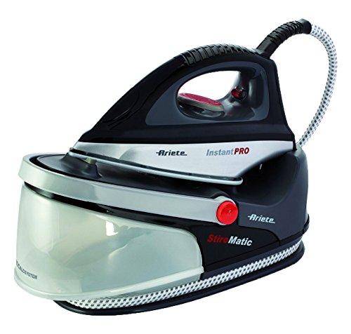 Ariete 5578 stiromatic instant pro - ferro generatore ricaricabile di vapore ad autonomia illimitata, piastra in ceramica, serbatoio removibile da 1,5 litri, anticalcare a cartuccia,  nero