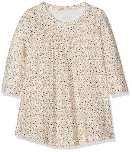 NAME IT Baby-Mädchen NBFSILD LS Dress Box Kleid, Weiß (Snow White), 68
