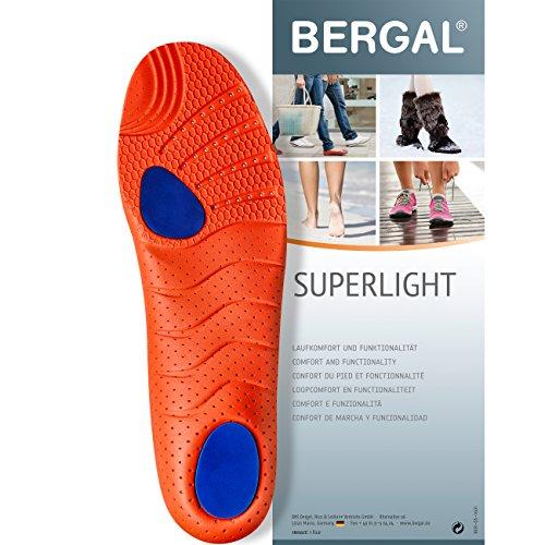 Bergal Superlight - Einlegesohlen - superleichtes, dynamisches Fußbett für Sport, Freizeit und Alltag Gr. 43