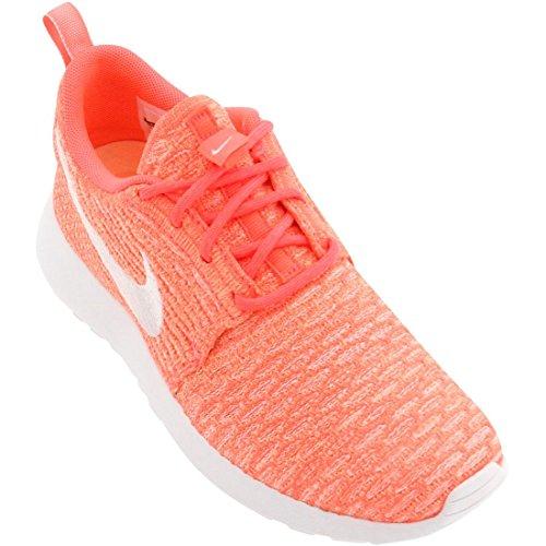 Nike - Roshe Flyknit, Scarpe da corsa Donna Rosso (Hot Lava)