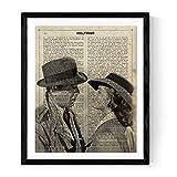 Nacnic Lámina para enmarcar Casablanca con definición de Hollywood Laminas Decorativas para Pared. Laminas Estilo Vintage. Laminas para enmarcar con imágenes de películas. Papel 250 Gramos