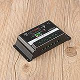 30A 12 V / 24 V Professionelle Led-bildschirm PWM Solarpanel Batterie Regler Laderegler CMTP02-30A Schwarz (farbe: schwarz)