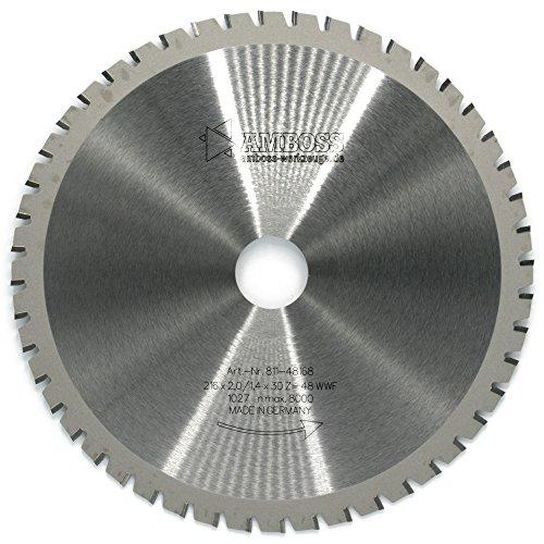 Amboss - HM Multifunktions-Kreissägeblatt - Ø 216 mm x 2 mm x 30 mm | Wechselzahn mit Wechselfase (48 Zähne) | für verschiedenste Materialien geeignet -
