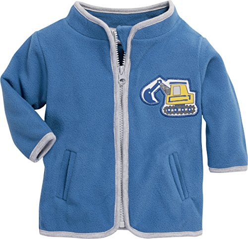 Schnizler Schnizler Kinder-Jacke aus Fleece, atmungsaktives und hochwertiges Jäckchen mit Reißverschlussmit Bagger-Motiv