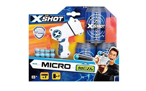 Grandi Giochi - X-Shot Excel Micro 3 lattine e 8 dardi GG-46017