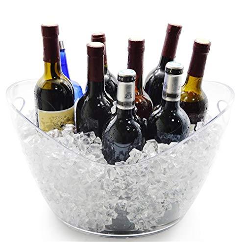 JTHAO Acryl Transparent Eiskübel Groß, Bier Fass Kühler Eimer Wein Fass Barrel Wein Champagner EIS Wein Fass Bier Eimer Für KTV Party Bar Home Hochzeit (Size : 4L) - Fass-kühler