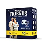 #4: Friends Overnight Adult Diapers Large Wholesale- 10 Diapeers/ Pack, Pack of 3