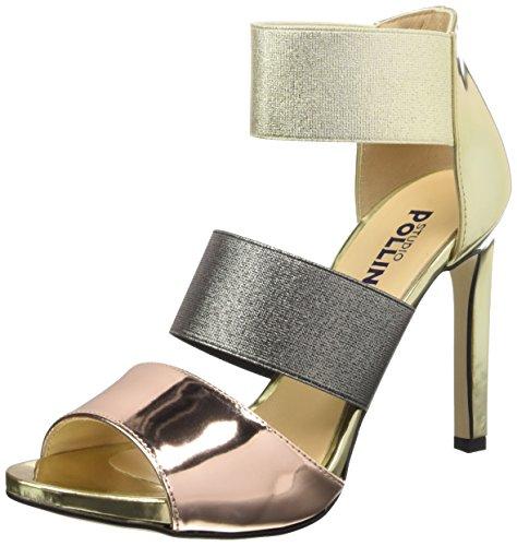 Pollini Sa16229c11to, Chaussures à Talons à Bout Ouvert Femme Multicolore (Quarzo/Platino/Acciaio)