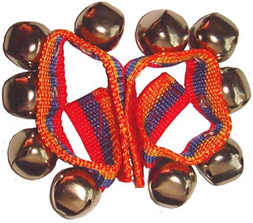 Schellenband ein Paar Eisenglöckchen für Hand oder Fuß mit Klettverschluss klingeln Mittelalter Gaukler Fasnet Fastnacht Fasching Carneval Percussion Weltmusik