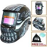 Leopard LEO-WH27 Solarbetriebene + Automatische Verdunkelung + Schleiffunktion + 9-13 Schatten Schweißhelm Maske mit 5 Kostenlosen Ersatzlinsen (Biomech)