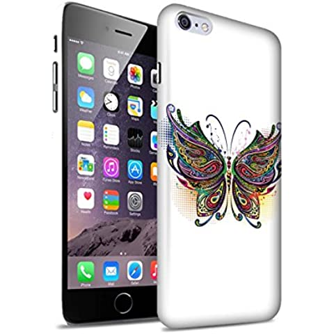 Carcasa/Funda Mate Broche de Presión en para el Apple iPhone 6+/Plus 5.5 / serie: Animales ornamentales - Mariposa