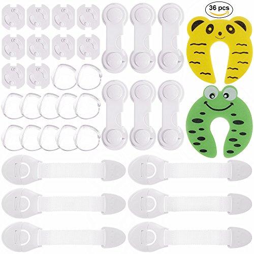 Rovtop 36 Pcs kit de Seguridad para Bebés, 12 Protectores de Esquina...
